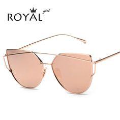 e714871e922 2016 New Fashion Cat Eye Sunglasses Women Brand Designer Summer Style  Vintage Twin-Beams Sun Glasses Oculos De Sol Feminino