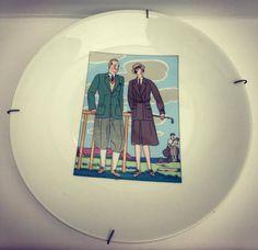 Plaques Decoratives  golf, set de 2,  2 assiettes décoratives pour le mur  golfeurs Collecteurs de plaques, collectionneurs de golf, de la boutique VintagechicBruxelles sur Etsy
