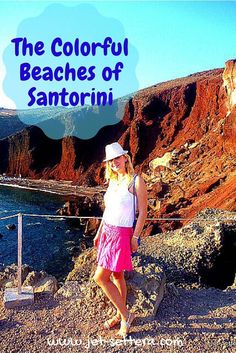 Read about Santorini, Greece is a spectacular Greek island with volcanic colourful mountains, black beaches, red beach and white beach all on the same island. Beautiful views from Oia. The Colorful Beaches of Santorini, Greece | Santorini Greece | Greek Islands | Jet-settera Travel Blog | Greece Travel Tips via @jetsettera7