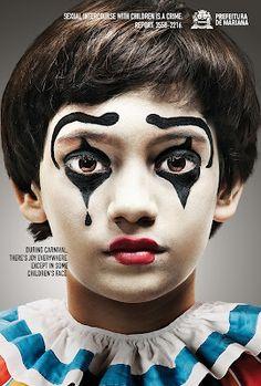 clown makeup boy - Google Search