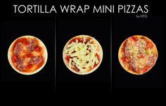 Mini pizzas Mini Pizzas, Tortilla Wraps, Breakfast, Food, Morning Coffee, Essen, Meals, Yemek, Pizza Snacks