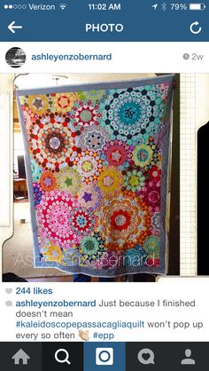 Finished La Pasacaglia quilt