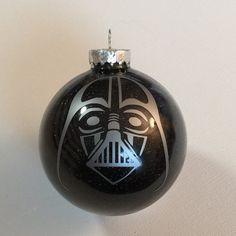 "Star Wars Darth Vader Christmas Glitter Ornament 3.25"" Glass Ball"