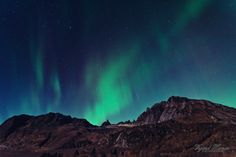 """Northern Lights in the Alps of Sunnmøre - Northern lights / Aurora Borealis dancing over Fingeren (the Finger) and Kolåstinden at Standalseidet, Norway on Oct 13.  I was one of the lucky that could be out and watch this view and capture some of it on """"film"""", and as it was just days before the full moon, the landscape below got illuminated too"""