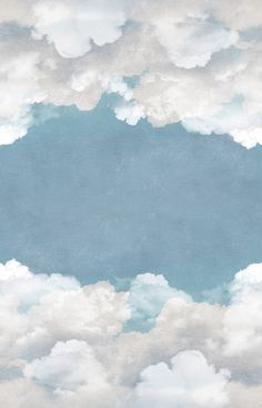 Cuddle Clouds, Ceiling Open up the ceiling and fly away among the clouds. Let the air inside for a free mind. Cloud Wallpaper, Iphone Background Wallpaper, Painting Wallpaper, Flower Iphone Wallpaper, Watercolor Background, Aesthetic Pastel Wallpaper, Aesthetic Backgrounds, Aesthetic Wallpapers, Instagram Frame Template