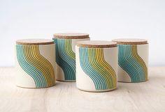 wave cork jar by paulova on Etsy