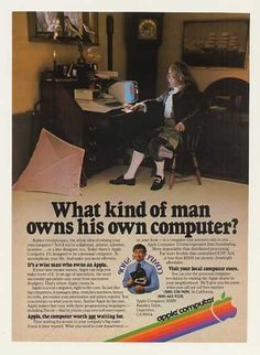 Own your own computer? What a radical concept in 1980! Today, you're using a computer to add this ad to your Pinterest board - heh-ha-hey!