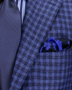Kiton blue plaid sport coat...