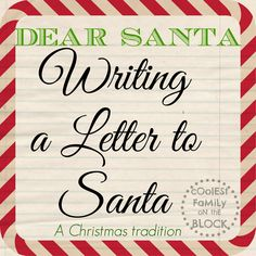 Writing a letter to Santa is a beloved Christmas tradition. If you're looking for a way to make your child's letter to Santa a special experience, you've come to the right place. Remember to choose. Free Christmas Printables, Christmas Activities, Christmas Traditions, Family Traditions, Christmas Crafts For Kids To Make, Christmas Holidays, Christmas Ideas, Christmas Wishes, All Things Christmas