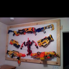 Ultimate kids Nerf Gun Rack & other uses!