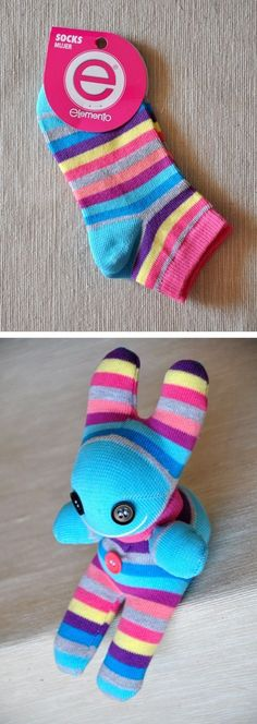 Chica outlet - muñeco con medias - sock doll