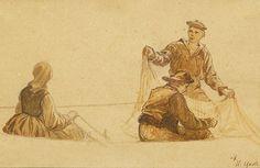 Hans Gude (1825-1903): Figurstudie