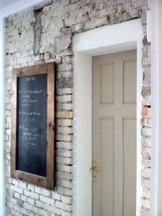 ...I LOVE the big chalkboard for messages before you enter the home!!