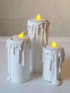 kreatiVielfalt: Anleitung - Kerzen aus Klorollen