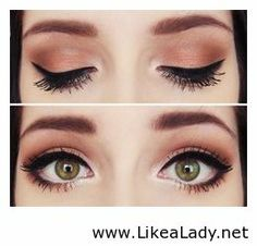 Orange shadow and liner