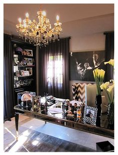 Khloe Kardashian's girly & glam office