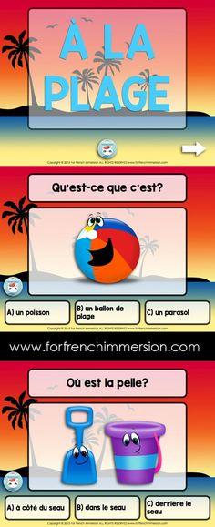 French Summer (Beach) Vocabulary Quiz on Slideshare - à la plage - en français