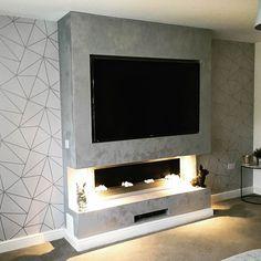 I Love Wallpaper Zara Shimmer Metallic Wallpaper Soft Grey Silver - Wallpaper from I Love Wallpaper UK Wallpaper Uk, Metallic Wallpaper, Geometric Wallpaper, Living Area, Living Room Decor, Colorful Backgrounds, New Homes, House Design, Grey
