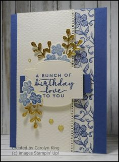 Carolyn King: Club Card Swap Homemade Birthday Cards, Homemade Cards, Mother Card, King Club, Birthday Cards For Women, Beautiful Handmade Cards, Card Sketches, Paper Cards, Flower Cards