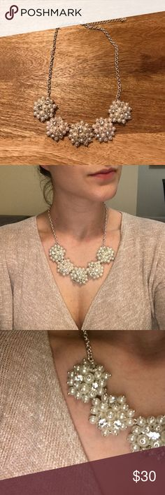 Silver and Pearl Necklace Adjustable!! Talbots Jewelry Necklaces