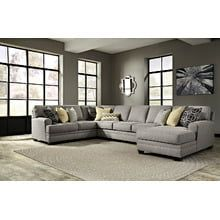 Cresson Pewter 4 Piece Sectional In 2020 Furniture Mattress Furniture Sectional Sofa
