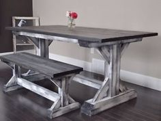 Trestle Table Shown With Fenceboard Finish on Trestles. Fort McMurray Alberta…