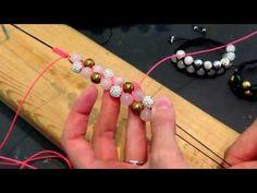 1001 PERLE / knyttet armbånd med vævet midterstykke - YouTube