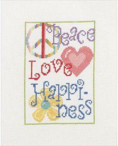 My Quick Stitch Peace Love - Beginner Cross Stitch Kit