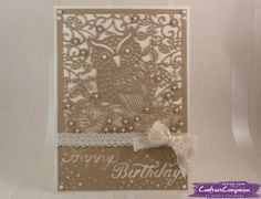 5 x 7 Card using Crafter's Companion Die'sire Create A Card die - What A Hoot. Designed by Angela Clerehugh #crafterscompanion