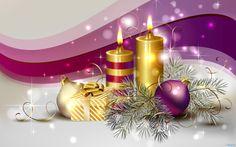Christmas Candles | Description: Download Christmas Candle Wallpaper, Christmas Candle ...