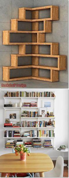 Bookshelf Design 2020 – How do you organize a bookshelf? - Home Ideas Modern Bookshelf, Bookshelf Design, Bookshelves, Bookcase, Wardrobe Room, Cupboard Design, Diy Furniture, Woodworking Projects, House Design