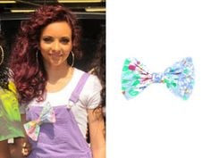 We were just loving Jade Thirlwall's style when she appeared on This Morning with the rest of Little Mix yesterday. Her lilac dungarees were so colourful and she personalised them with a really cute vintage bow in on-trend pastel shades. So we