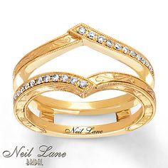 Neil Lane Enhancer Ring 1/6 ct tw Diamonds 14K Yellow Gold