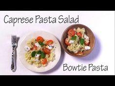 Caprese Pasta Salad W/ Bowtie Pasta - polymer Clay Tutorial - YouTube