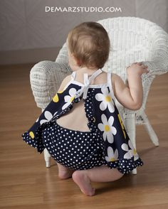 How to Sew the Pat-A-Cake Baby Dress 0-24 months | YouCanMakeThis.com