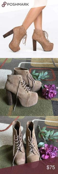 """Jeffrey Campbell shoes❤️ Style is """"Lita""""❤️ leather upper man-made sole❤️ Heel measures 5"""" ❤️ Jeffrey Campbell Shoes Heels"""