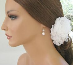 Womens Rose Gold And Crystal Bride Earrings - Cherry Hills Bridal - 4