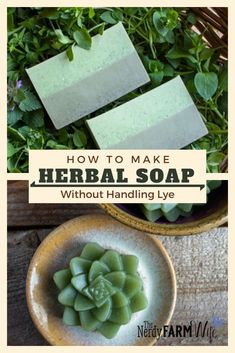 How to Make Herbal Soap Without Handling Lye {+recipe} Learn how to incorporate herbs, flowers, essential oils, and other natural ingredients into melt and pour (glycerin) soap base, no handling of lye required! Glycerin Soap Base, Lye Soap, Soap Molds, Castile Soap, Soap Making Recipes, Homemade Soap Recipes, Bath Body Works, Making Soap Without Lye, Lavender Soap