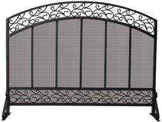 Uniflame S-1324 Single Panel Black Wrought Iron Screen with Hammered Copper Top Trim by Uniflame, http://www.amazon.com/dp/B002LZUM3W/ref=cm_sw_r_pi_dp_WW4Yqb1HF28V1