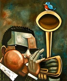 Diz With Bird Dizzy Gillespie Lounge Music Trumpet Players Play That Funky Music Fine Art America
