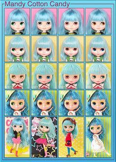 Neo Blythe Comparison: Mandy Cotton Candy (MaCoCa), Wendy Weekender (WeWe), Miss Sally Rice (MSR) and Candy Carnival (CC) | Flickr - Photo Sharing!
