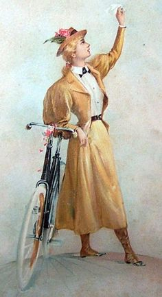 women_vintage_bicycle - Womens Bicycle - Ideas of Womens Bicycle - women_vintage_bicycle Cool Bicycles, Vintage Bicycles, Victorian Era Dresses, Steampunk, Cycling Art, Cycling Quotes, Cycling Jerseys, Bicycle Art, Bicycle Design