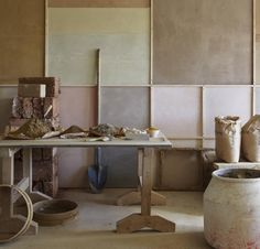 fresh new natural colors, you may be inspired by (Clayworks granary clayplaster walls, Remodelista)