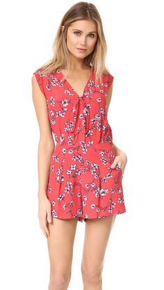 :: cupcakes and cashmere Fitz Cherry Blossoms Romper   shopbop ::