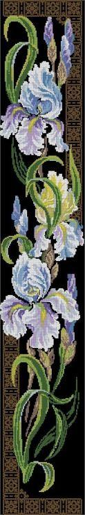 Free Patterns for Cross Stitch - Flowers & Garden Cross Stitch Bookmarks, Cross Stitch Borders, Cross Stitch Flowers, Cross Stitch Charts, Cross Stitch Designs, Cross Stitching, Cross Stitch Embroidery, Hand Embroidery, Cross Stitch Patterns