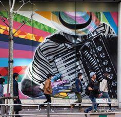 Eduardo Kobra detail in Tokyo, 4/15 (LP)