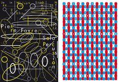 left: pierre favre solo, 2012; right: voice & bass, 2013 - by niklaus troxler