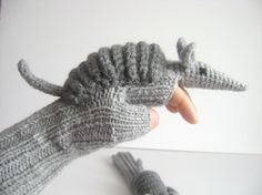 Cute Armadillos gloves,long fingerless gloves