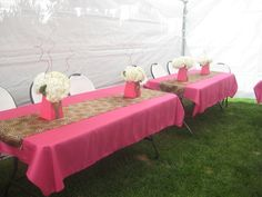 love the cheetah print with pink for a baby shower