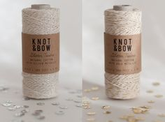 Gold/Silver Glitter Twine Duo by @knotandbow on Etsy, $22.00.  Might be perfect for my new packaging ideas.